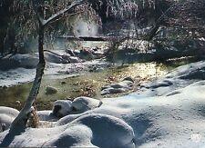 Alte Postkarte - Ruisseau dans la neige