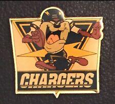 TAZ~San Diego Chargers Tasmanian Devil Pin / Badge~NEW~Football~NFL~Looney Tunes