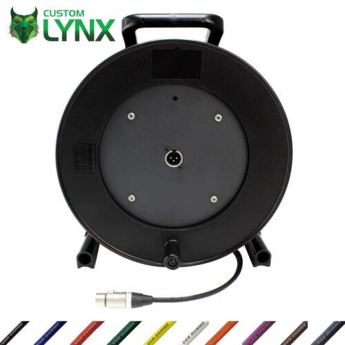 Van Damme Active//Powered Speaker Cables On Reel Drum Long Neutrik XLR Leads PRO