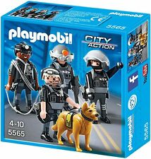 Kinder PLAYMOBIL SEK-Team mit Polizeihund Figuren Polizei Kinderspiel