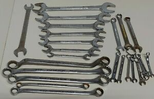 Vintage-Mixed-Lot-Of-24-Craftsman-V-and-V-series-wrenches-USA-Wrench