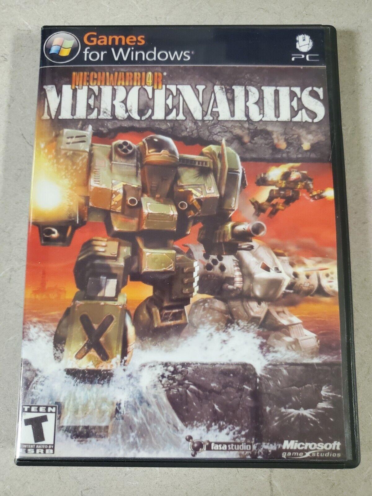 Image 1 - MechWarrior4 Mercenaries PC Game in custon dvd case Windows 98/ME/2000