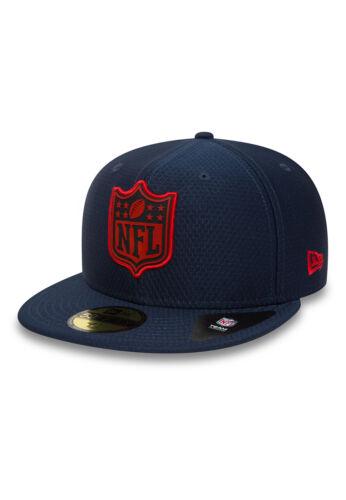 New era League logo 59 fifty cap New England Patriots azul oscuro