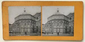 Firenze il Battistero Italia Foto P39L9n10 Stereo Stereoview Vintage