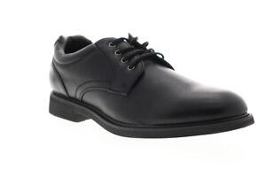 GBX-Zayne-13818-Mens-Black-Low-Top-Lace-Up-Plain-Toe-Oxfords-Shoes