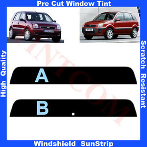 Pre-Cut-Window-Tint-Sunstrip-for-Ford-Fusion-5-Doors-2002-2008-Any-Shade