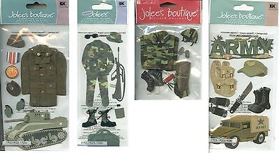 JOLEES BOUTIQUE ARMY SCRAP BOOK STICKERS