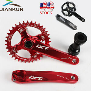 US-MTB-Bike-Crankset-BB-104bcd-32-42t-Narrow-Wide-Single-Chainring-170mm-Crank
