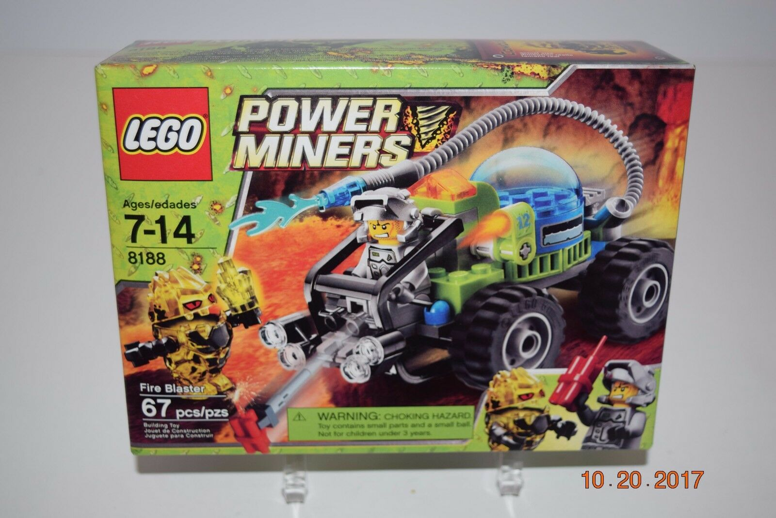 Lego Power Miners 8188  Fire Blaster  Age 7+, Sealed, Retirot    NEW