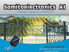 gate garage door opener + 3 remote controls