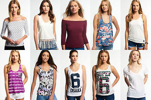 New-Womens-Superdry-Tops-Various-Styles-amp-Colours