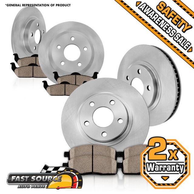 Front+Rear Brake Rotors & Ceramic Pads For 2004 2005 2006