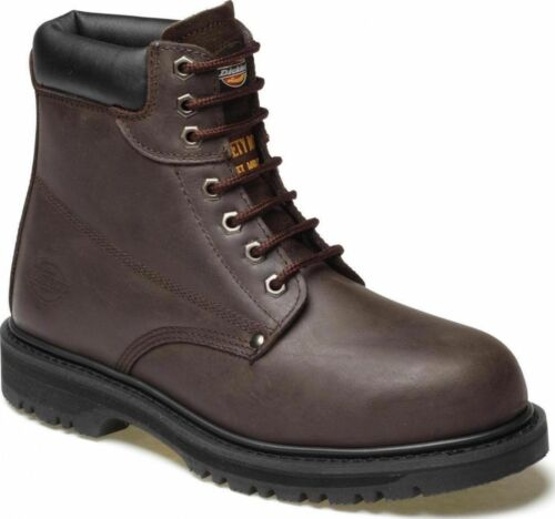 MENS DICKIES LEATHER SAFETY BOOTS STEEL TOE CAP HIKER TRAINERS WORK HIKING SHOES