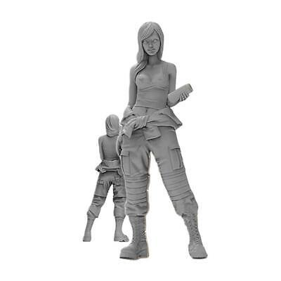 1//35 Standing Beautiful Girl Serie Resin Soldier Model E4U2