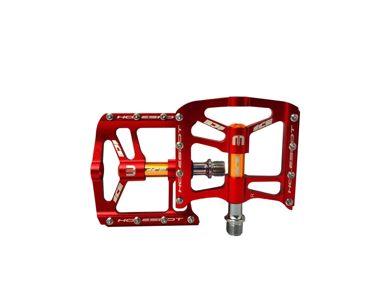 Flat pedals ICE Hole-shot BMX ,MTB PEDALS rot 9 16