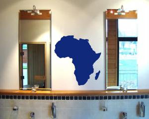 Samunshi Afrika Wandtattoo Africa Aufkleber  25 Farben 4 Größen