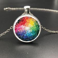 "Silver 20/"" Necklace PRIDE LGBT Pendant men women art key RAINBOW Free $10 GIFT"