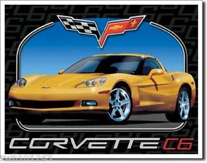 Corvette 50 TIN SIGN metal poster vintage chevrolet ad garage wall decor #1015