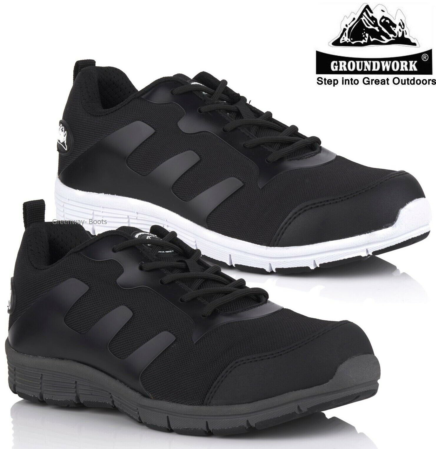 MENS ULTRA LIGHTWEIGHT PPE WORK STEEL TOE CAP SAFETY SHOES TRAINERS BOOTS SZ