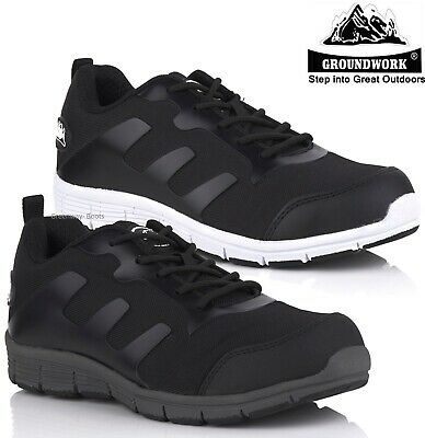 Mens Steel Toe Cap Safety Shoes Groundwork Ultra Light Trainers Work Boots Size