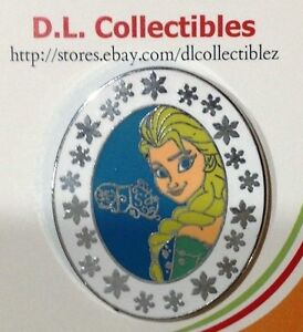 Disney-Frozen-Queen-Booster-Snowflakes-on-Oval-Frame-Elsa-Pin