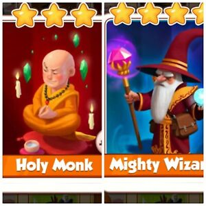 Details about Coin Master Pack Wizard & Holy Monk
