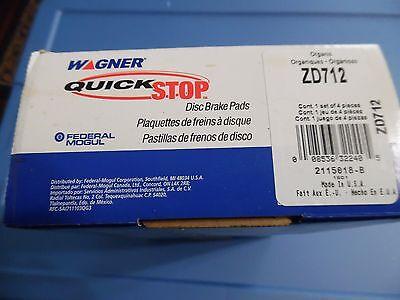 Disc Brake Pad Set-QuickStop Disc Brake Pad Front Wagner ZD712