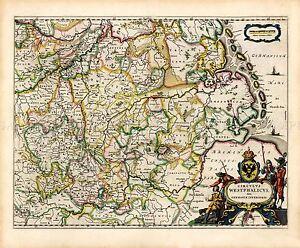 MAP-ANTIQUE-BLAEU-THEATRE-DU-MONDE-WESTPHALIA-LARGE-REPLICA-POSTER-PRINT-PAM0691