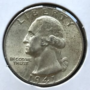 USA-1941-Washington-Quarter-Philadelphia-Unzirkuliert-Silber-10291