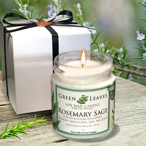 Handmade-Soy-Candle-smells-AMAZING-4oz-Jars-Highly-Scented-Rosemary-Sage