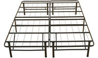 Steel Platform Bed No Boxspring Needed Rated 1200lbs Storage All Sizes