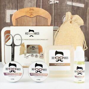 Beard-Care-XL-Gift-Kit-Beard-Oil-Balm-Wax-Soap-Scissors-Comb-Cedarwood