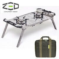 Zed Power Pad Twin Stove Liquid Injection Foldable Portable Gas Two Burner