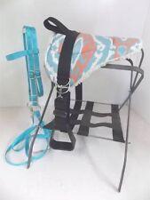 MINI HORSE / SM PONY BAREBACK SADDLE PAD  SET  - Turquoise and Desert Orange SW