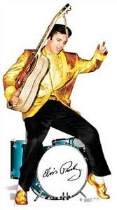 Elvis-Presley-gold-jacket-and-drums-LIFESIZE-CARDBOARD-CUTOUT-standee-standup