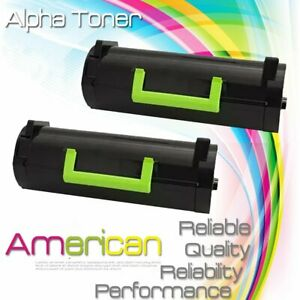 2-Pack-50F1H00-501H-Toner-Cartridge-for-Lexmark-MS310d-MS410d-MS510dn-MS610dtn
