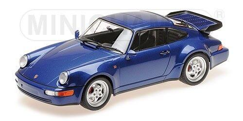 Minichamps 155069101 Porsche 911 Turbo (964) 1990 blaumetallic 1 18 NEU OVP  | Für Ihre Wahl