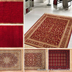 Image Is Loading Red Rugs Multi Size Patterned Amp Plain
