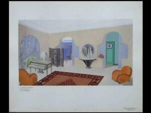 ANDRE-GROULT-ZIMMER-1924-POCHOIR-FRANZOSISCHER-ART-DECO