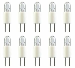 Box of 10 T-1.75 shape G3.17 Base 12 V CEC Industries #7373 Bulbs 1.4 W