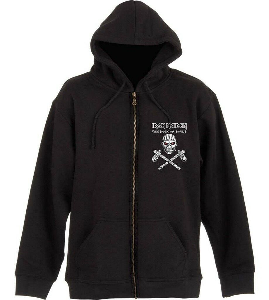 Iron Maiden 'Eddie Axes' Zip Up Hoodie - NEW & OFFICIAL