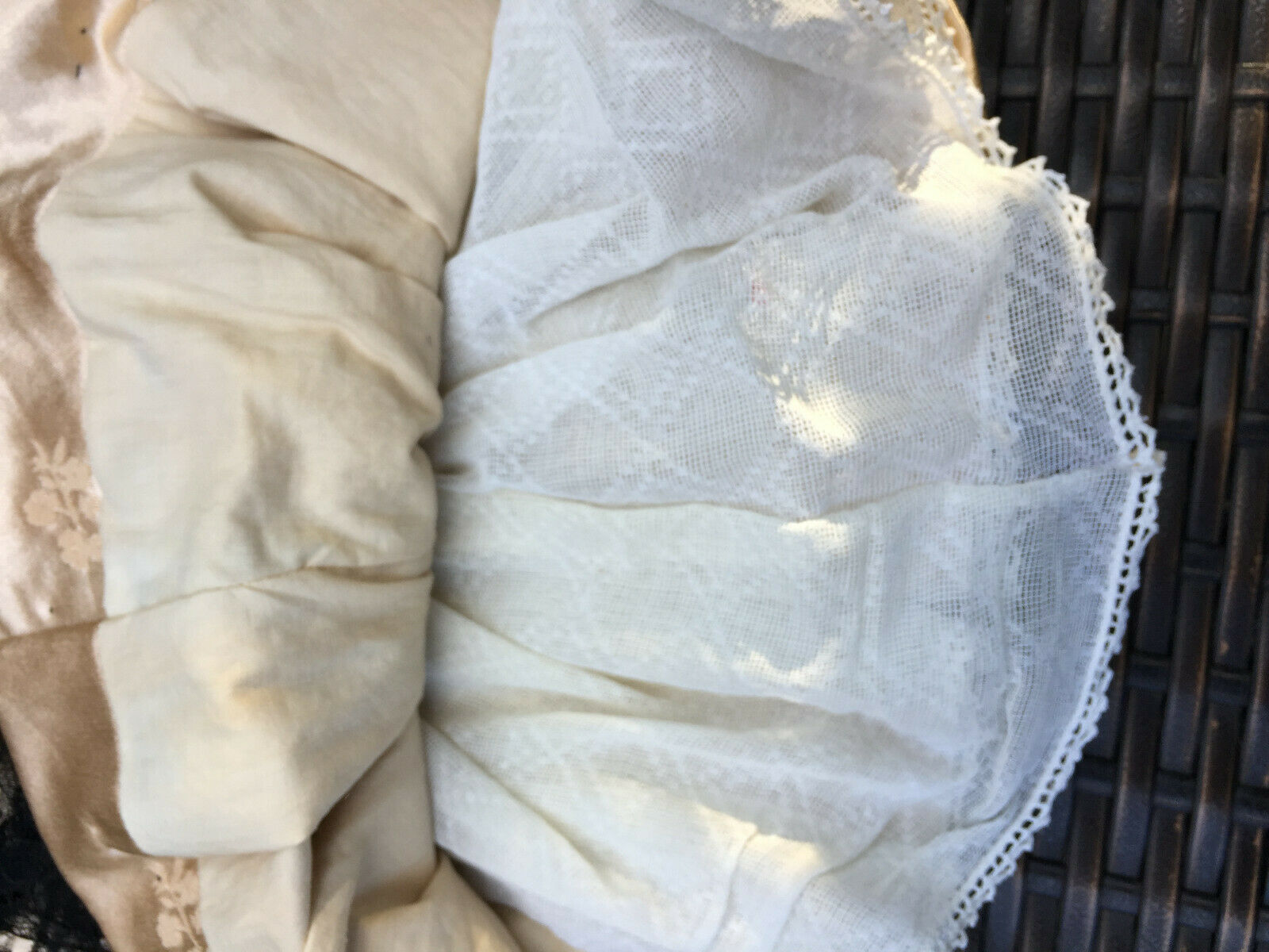 ANTIQUE silk dress for FRENCH doll doll doll 5-8Jumeau Steiner Bru antique lace brooche c3eb1d