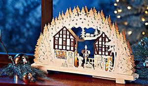 Weihnachtsdeko Schwibbogen.Led Schwibbogen Winterland Fensterdeko Holz Weihnachtsdeko Deko