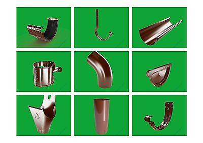 Regenrinnen & Zubehör Baustoffe & Holz Sporting Dachrinnenset Farbig Komplettset Komplettpaket Dachrinne Set 4m 16 M Modern Und Elegant In Mode