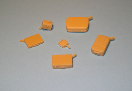 LUGGAGES-COMPUTER-VANITY CASE-BAGS Resin SET 1//24 scale Accessory JIELGE JA2406