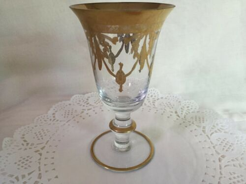 1 medici gold royal gallery arte italica winewater gobletmade in italy