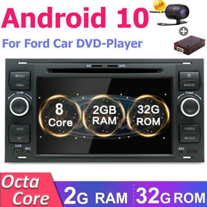 Autoradio Für Ford Galaxy C/S-Max Focus Kuga Transit Android10 Car DVD/CD GPS BT