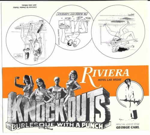 2 Knockouts Boxing Burlesque Riviera Las Vegas Hotel Casino brochure George Carl