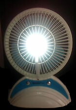 Rechargeable Fan Cooling Portable Desktop with USB power bank and  LED Light