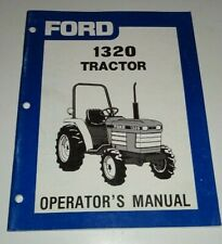 Ford 1320 Tractor Operators Owners Manual Very Good Original Se 4593
